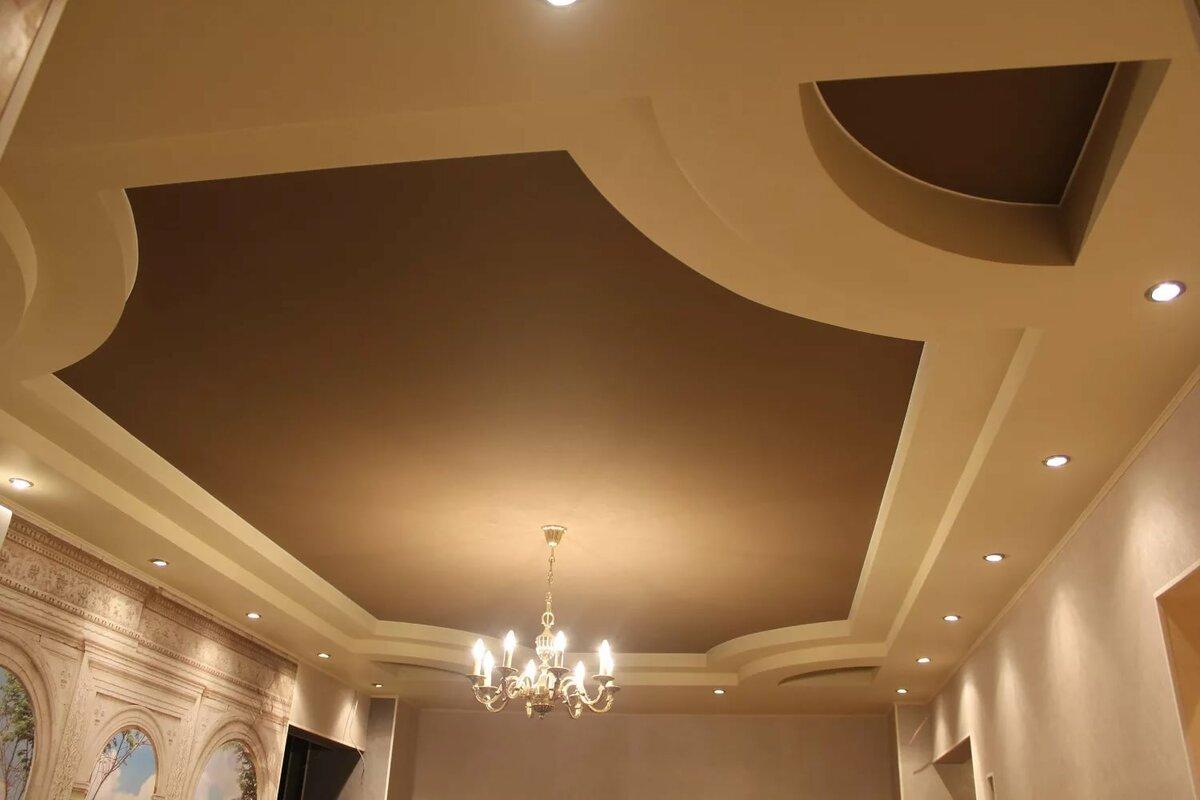 Преимущества подвесного потолка из гипсокартона
