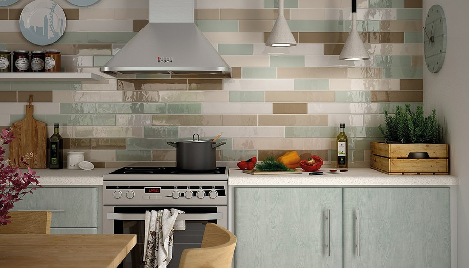 Как уложить плитку на кухне?